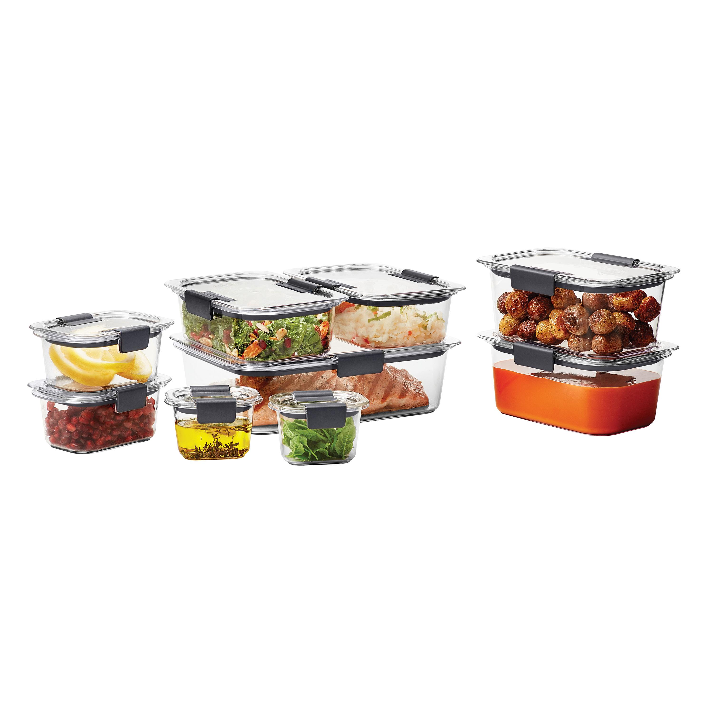 18-Piece Rubbermaid Brilliance Food Storage Container Set - Walmart $17.98