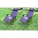 Set of 2 Zero Gravity Lounge Chairs $99.99 + FS @ groupon