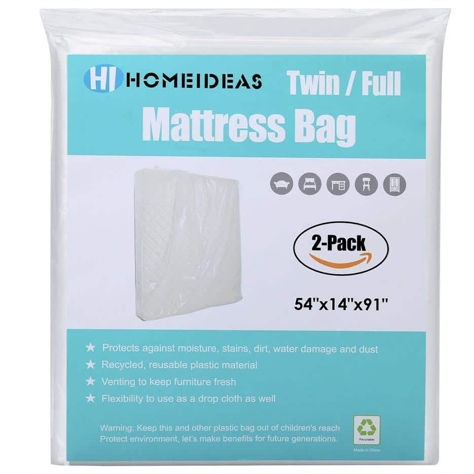 2-Pack Extra Thick Mattress Bag for Moving and Storage, fits Twin/Full Size $8.99