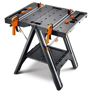 WORX WX051 Pegasus Folding Work Table & Sawhorse  - $67.99