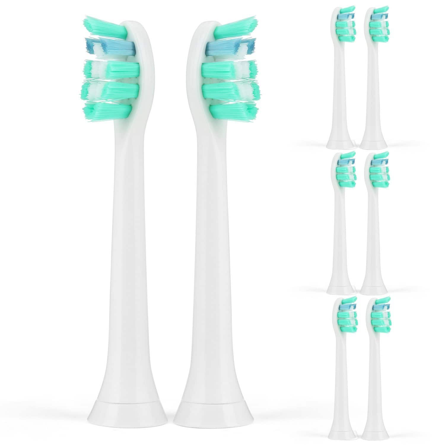 Sonicare Toothbrush Replacement Heads w/ Cap 4 Pack - $5.56, 8 Pack - $7.31 FS