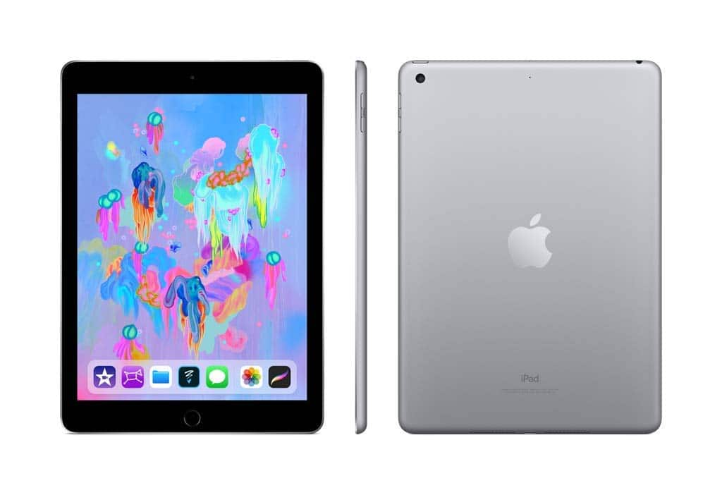 Apple iPad (Wi-Fi, 128GB) - Space Gray (Latest Model) - 330$