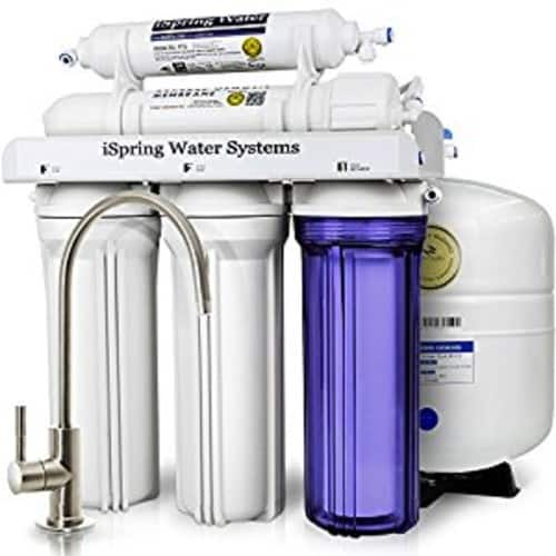 iSpring RCC7 5-Stage Reverse Osmosis Drinking Water Filter System - 75 GPD $148.95