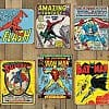 "Marvel & DC Comics Officially Licensed 16""x12.5"" Retro Comic Book Tin Signs"