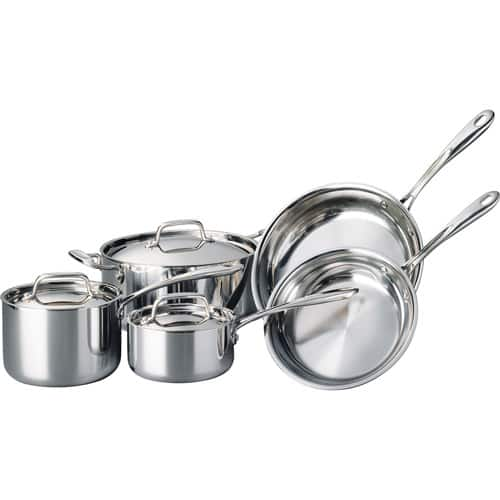 Lowest Price - Tramontina 8-Piece Stainless Steel TriPly Cookware Set - $109 Shipped Walmart.com
