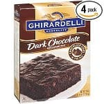 4-pack 20-oz Ghirardelli Dark Chocolate Brownie Mix