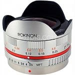 Rokinon 7.5mm F/3.5 Ultra Wide Fisheye Lens for Panasonic Micro Four Thirds or Olympus PEN (silver or black)