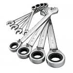 GearWrench 8-Piece Full Polish Reversible Ratcheting Combination Wrench Set (Standard or Metric)
