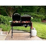 Nexgrill Mini Charcoal/Gas Combination Grill or Kenmore 4-Burner Gas Grill with Side Burner