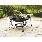 "Outdoor Living Clearance: Grill Covers from $6, Chrome Grill Grid $8, Garden Oasis 26"" Round Fire Pit $27, Grill Rib Rack $4, Leisure Lounger $30, Outdoor LED Candles from"