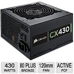 Corsair CX430 V2 430W 80 Plus Bronze Power Supply (CP-9020046-US)