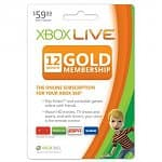 12-Month Xbox 360 Live Gold Membership Subscription Card