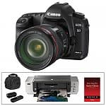 Canon EOS 5D Mark II 21.1MP Full Frame Digital SLR Camera + EF 24-105mm f/4 L IS USM Lens + Pixma Pro 9000 Printer + Accessories