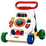 Fisher-Price Activity Walker, Baby Basketball, Discovery Kids Cardboard Coloring Train, UNO MOO