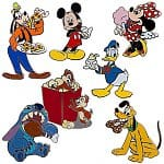 7-Piece Disney Parks Adventure Mickey Mouse Pin Set