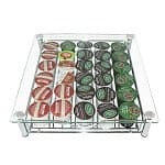 DecoBros Crystal Clear Glass K-Cup Storage Holder Drawer
