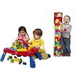Mega Bloks Play N' Go Table + 100-pc Maxi Tube Building Blocks $36, or Mega Blocks Table + Blocks Bundle + $15 Walmart Gift Card $45