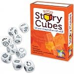 Rory's Story Cubes Game $6, Think Fun Math Dice $4.50, Math Dice Jr