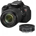 Canon EOS Digital Rebel T4i 18MP SLR Camera w/ 18-135mm STM Lens + 40mm Pancake STM Lens + $45 Adorama Gift Card