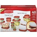 40-piece Rubbermaid Easy Find Lids Storage Set