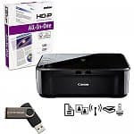 Canon PIXMA MG3122 Wireless Inkjet Photo All-In-One Printer + 4GB Flash Drive + Ream of Multi-purpose Paper