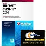 McAfee Internet Security 2014 (3 PCs, Product Key Card) + $10 Newegg Gift Card