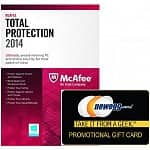 McAfee Total Protection 2014 (3 PCs Product Key Card) + $10 Newegg Gift Card