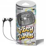 3-Pack Maxell Juicy Tunes Stereo Earbuds (silver, blue, pink or purple)