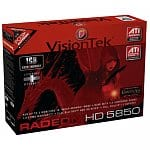 VisionTek Radeon HD 5850 1GB GDDR5 PCI Express Graphics Card $252 or $244