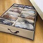 Home Basics Under-Bed Shoe Organizer (Holds 12-Pairs of Shoes) for $8.99 with free shipping