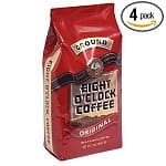 4-Pack of 12-oz Bags Eight O'Clock Ground Coffee (Original) $10, 3-Pack of Community Coffee 12-oz Bags $8