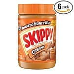 6-pack 16oz Skippy Peanut Butter: Natural Creamy $8, Reduced Fat Creamy $10, Reduced Fat Super Chunk $8, Roasted Honey Nut Creamy $8