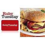 $10 Gift Card for Ruby Tuesday's Restaurant