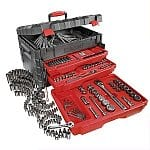 "Craftsman Tool Sets: 255-pc Mechanics Tool Set with Lift Top Storage Chest $126, 200-pc Mechanics Tool Set with Molded Carry Case $81, 10-pc 6 pt. 3/8"" Dr. Socket Wrench Set (standard or metric) $10"