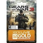 Xbox Live 12-Month Gold Membership Card