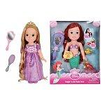 Disney Princess Singin' in the Bath Ariel Doll and Disney Princess Rapunzel Toddler Doll Bundle