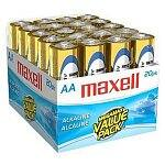 20-pack of Maxell 1.5v AA Alkaline Batteries