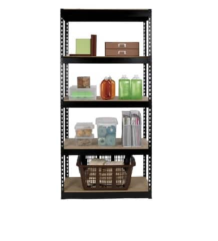 "5-Shelf Gorilla Rack Shelving Unit 34""W x 14""D x 72""H $35 + Free Ship to Store"