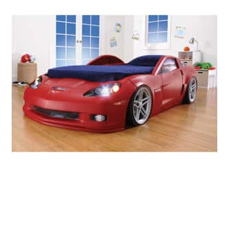 Step2 Red Corvette Convertible Toddler to Twin Bed with Lights $264 + Free In-Store Pick Up