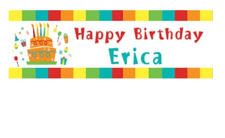 """18""""x54"""" Personalized Vinyl Banners $9"""
