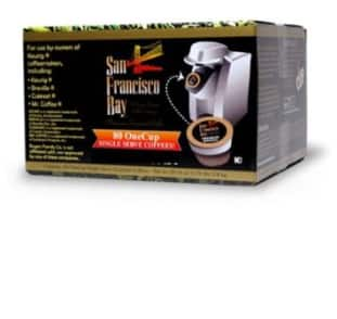 80-Count San Francisco Bay Coffee OneCup for Keurig K-Cup Brewers (Organic Rainforest Blend) $27.50 + Free Shipping