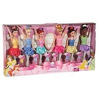Amazon Deal: Set of 6 Disney Princess Ballerina Dolls by Mattel: Ariel, Belle, Cinderella, Sleeping Beauty, Snow White, Tiana  for $21 shipped for Kohl's Cardholders