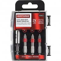 Sears Deal: Craftsman Tools: 57-pc Drill/Drive Set $9, 11-pc Heavy-Duty Impact Screwdriving Set
