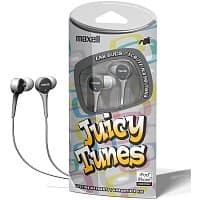 Shnoop Deal: 3-Pack Maxell Juicy Tunes Stereo Earbuds (silver, blue, pink or purple)