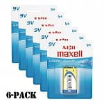 Shnoop Deal: 6-Pack of Maxell Gold Series 9V Alkaline Batteries