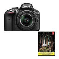 eBay Deal: Nikon D3300 DSLR Camera +18-55mm VR II Lens (refurb) + Adobe LR5