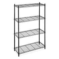 eBay Deal: 4-Tier Steel Wire Shelving Storage Rack Organizer (black or chrome) for $39.99 with free shipping