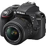 eBay Deal: Nikon D3300 DSLR Camera +18-55mm VR II Lens (refurbished)