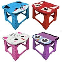 Deal Genius Deal: 2-Pack FineLife Foldable Step Stools (Fox & Dog or Cat & Owl)