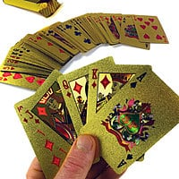 13deals.com Deal: Playing Cards w/ 24K Gold-Plating: 6 for $26.50, 4 for $19.50, 2 for $10,